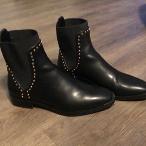 High top studded boots from Zara